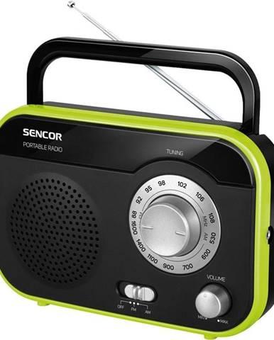 Rádioprijímač Sencor SRD 210 BGN čierny/zelen