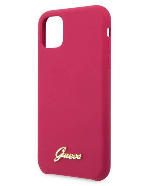 Guess Kryt na mobil Guess Silicone Vintage na iPhone 11 ružový