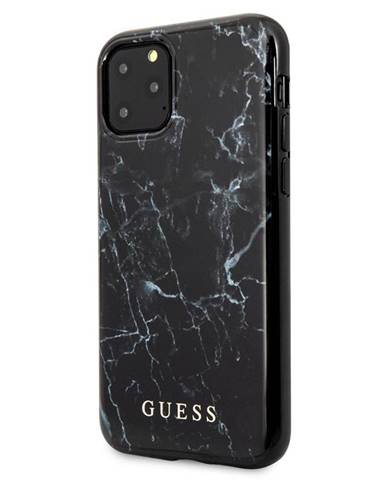 Kryt na mobil Guess Marble Design na iPhone 11 Pro čierny