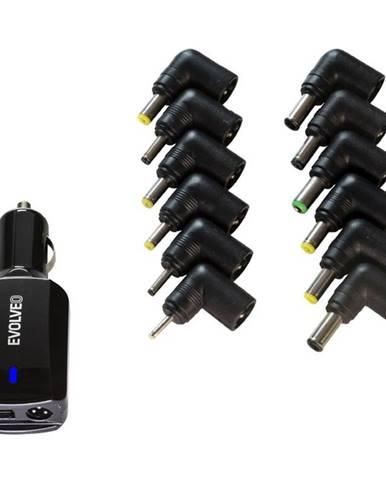 Sieťový adaptér Evolveo Chargee Car90, 12V pro notebooky 90W
