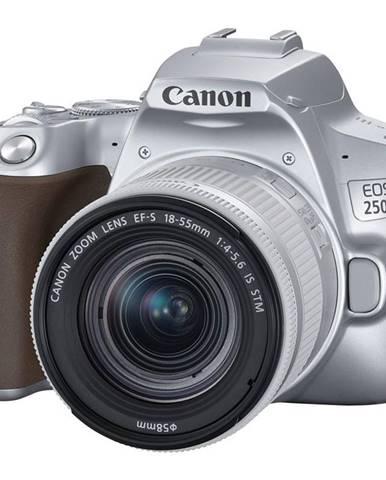 Digitálny fotoaparát Canon EOS 250D + 18-55 IS STM strieborný