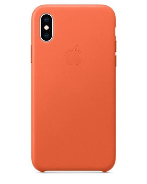Apple Kryt na mobil Apple Leather Case pre iPhone Xs - temne oranžový