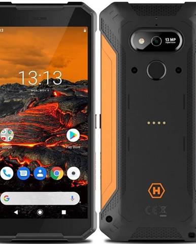 Mobilný telefón myPhone Hammer Explorer  čierny/oranžový