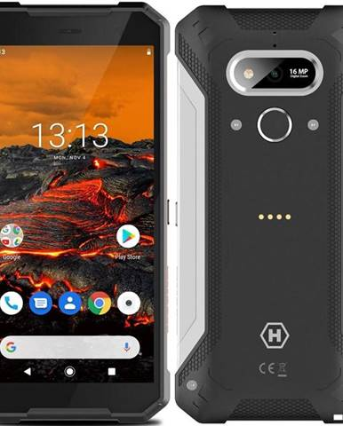 Mobilný telefón myPhone Hammer Explorer čierny/strieborný