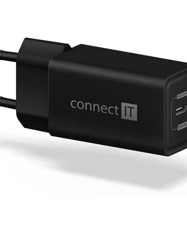 Nabíjačka do siete Connect IT 1x USB-C PD, 18W čierna