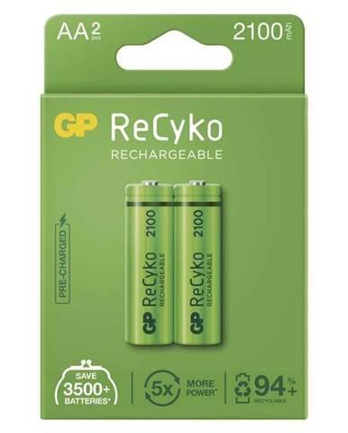 Batéria nabíjacie GP ReCyko, HR06, AA, 2100mAh, NiMH, krabička 2ks