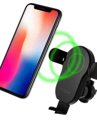 Držiak na mobil Fixed Matic s bezdrátovým nabíjením čierny