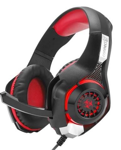 Headset  Connect IT Biohazard CHP-4510 čierny/červený