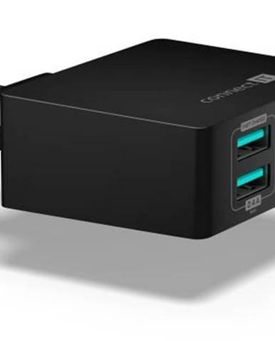 Nabíjačka do siete Connect IT Fast Charge 4x USB, 4,8A s funkcí