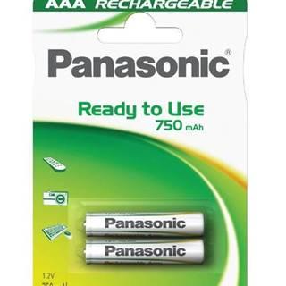 Batéria nabíjacie Panasonic Evolta AAA, HR03, 750mAh, Ni-MH, blistr