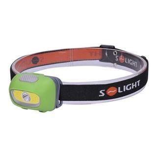 Čelovka  Solight 3W + 3W COB bílé a červené světlo 3x AAA čierna