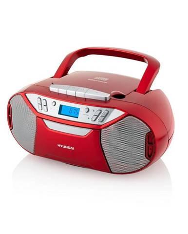 Rádiomagnetofón s CD Hyundai TRC 333 Au3btr červen