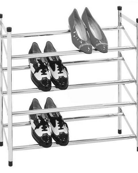 Kondela 4-radový nastaviteľný botník chróm DITA