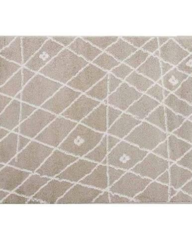 Koberec béžová/biela 133x190 TYRON