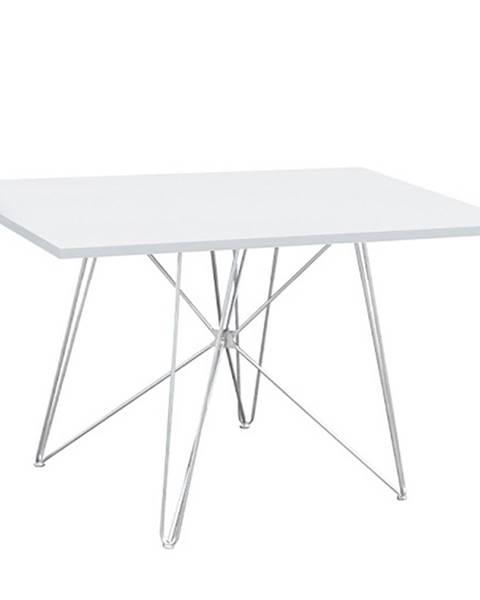 Tempo Kondela Jedálenský stôl MDF/biela/HG lesk ARTEM