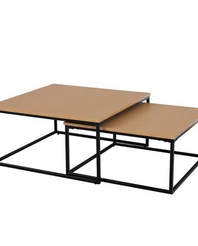 Set dvoch konferenčných stolíkov buk/čierna KASTLER TYP 1