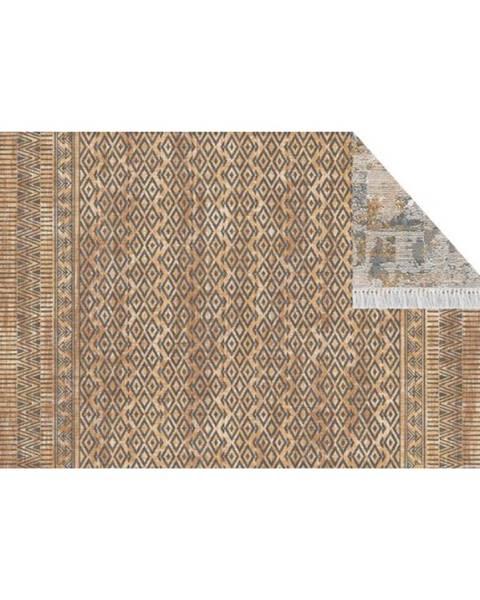 Kondela Obojstranný koberec vzor/ hnedá 120x180 MADALA