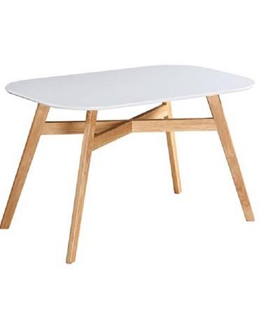 Jedálenský stôl biela/prírodná CYRUS NEW poškodený tovar