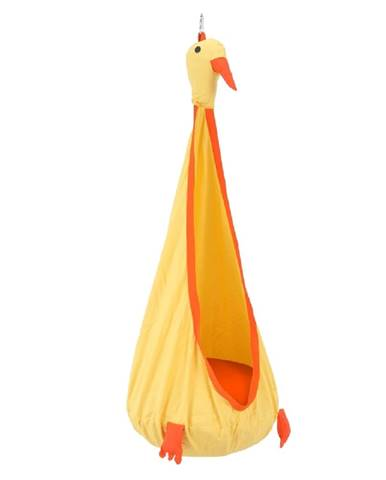 Závesné kreslo žltá/oranžová TOLO