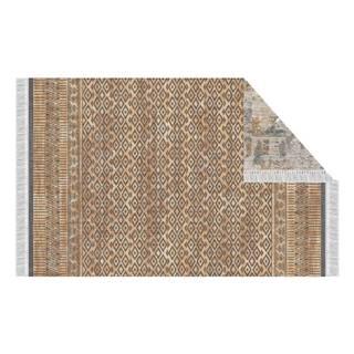 Obojstranný koberec vzor/ hnedá 120x180 MADALA