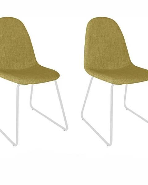 Tempo Kondela 2 kusy stolička látka zelená/kov ONTARI