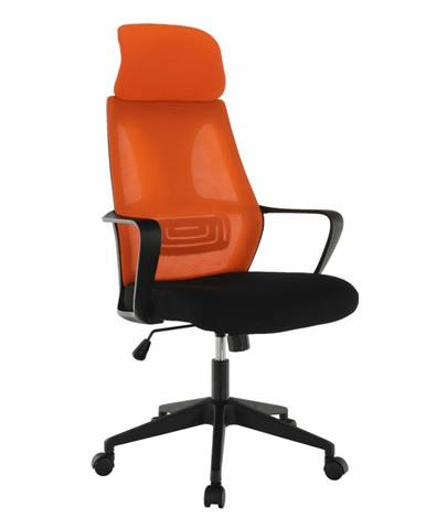 Kancelárske kreslo čierna/oranžová TAXIS