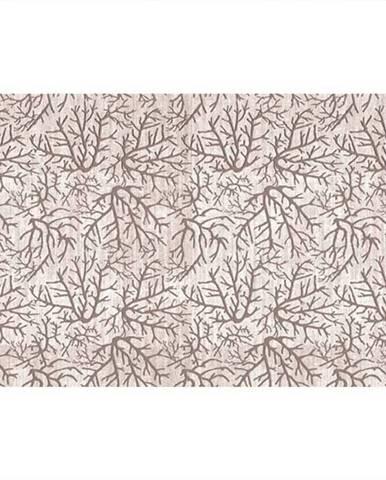 Koberec béžová/vzor konár 80x200 ARILA
