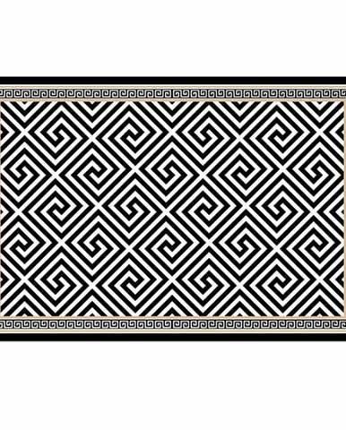 Koberec čierno-biely vzor 160x230 MOTIVE