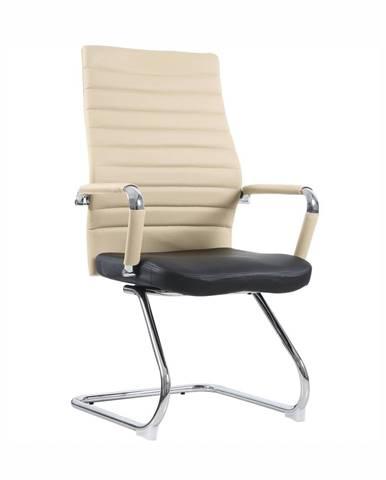 Zasadacia stolička béžová/čierna DRUGI TYP 2
