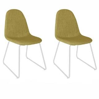 2 kusy stolička látka zelená/kov ONTARI