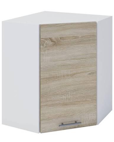 Horná rohová skrinka dub sonoma/biela FABIANA W - 60N