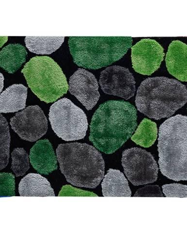 Koberec zelená/sivá/čierna 170x240 PEBBLE TYP 1