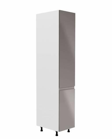 Potravinová skrinka biela/sivá extra vysoký lesk pravá AURORA D40SP rozbalený tovar