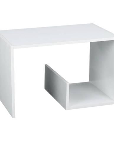 Príručný stolík/polica biela VOLKER