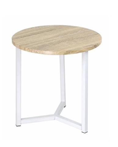 Príručný stolík prírodná/biela CELINI