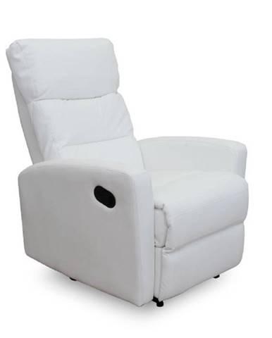 Relaxačné kreslo ekokoža biela SILAS