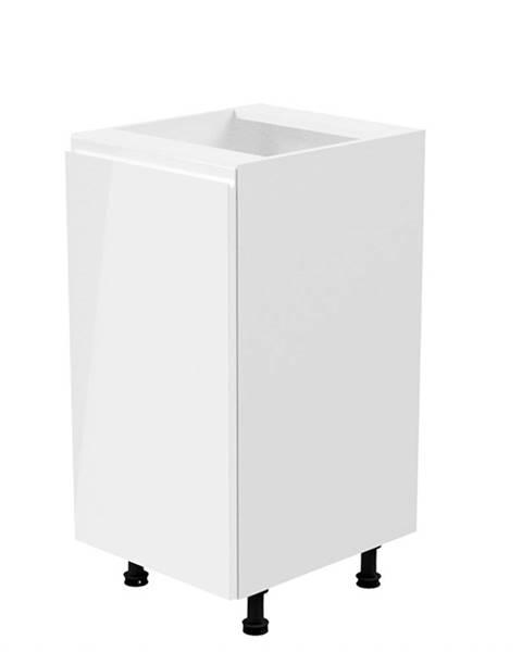 Tempo Kondela Spodná skrinka biela/biela extra vysoký lesk ľavá AURORA D40