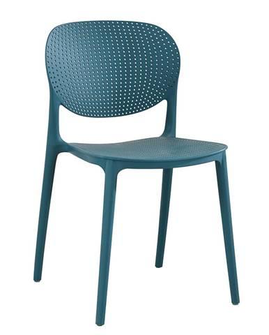 Stohovateľná stolička modrá FEDRA