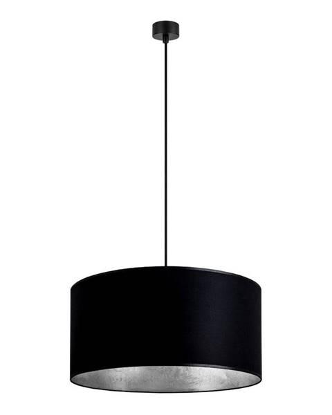 Sotto Luce Čierne závesné svietidlo s vnútrom v striebornej farbe Sotto Luce Mika, ∅ 50 cm
