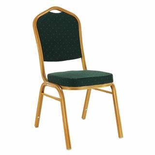 Stohovateľná stolička zelená/zlatý náter ZINA 3 NEW