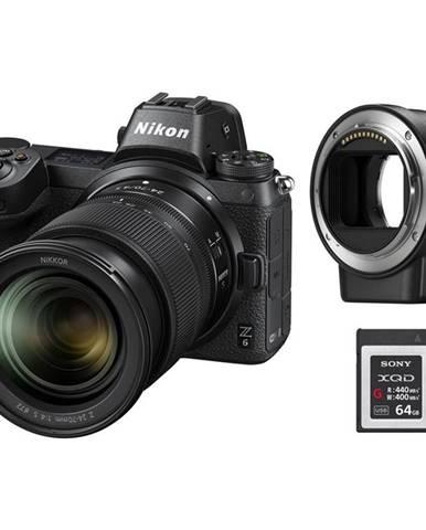 Digitálny fotoaparát Nikon Z6 + 24-70 + adaptér bajonetu FTZ + 64