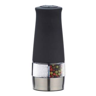 Čierny dvojitý mlynček na soľ a korenie Wenko Mill