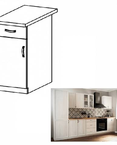 Dolná skrinka D40S1 ľavá biela/sosna Andersen SICILIA