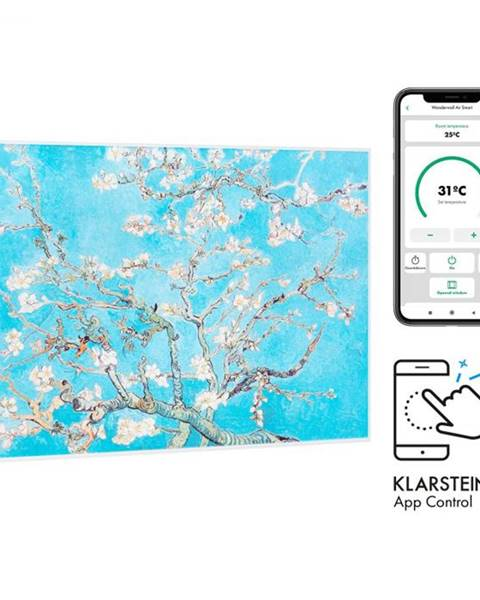 Klarstein Klarstein Wonderwall Air Art Smart, infračervený ohrievač, 80 x 60 cm, 500 W, kvety