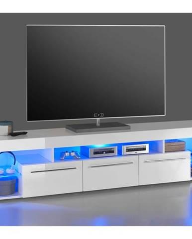 TV stolík GOAL biela