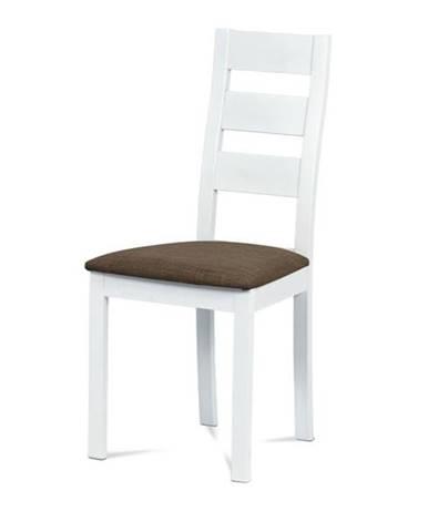 Jedálenská stolička DIANA biela/hnedá