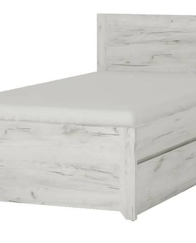 Posteľ ANGEL 90 dub craft biely, 90x200 cm