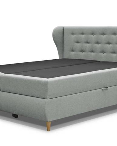 Posteľ s roštom a matracom FABBY sivozelená, 180x200 cm