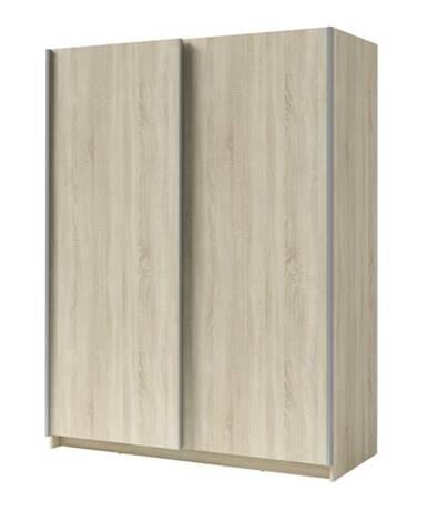 Šatníková skriňa SPLIT dub sonoma, šírka 180 cm