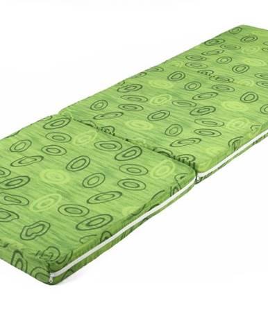 Skladací matrac SPIRALY zelená